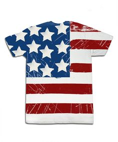Look at this White American Flag Sublimation Tee - Toddler