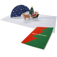 Pop-up Card (Santa Claus) - Christmas - Craft Cards - Gift & Card - Canon CREATIVE PARK