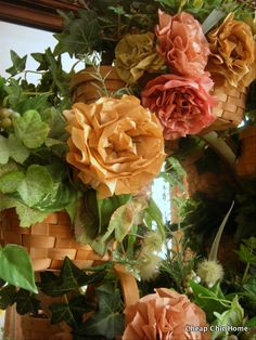 So clever...coffee filter flowers @Lorna Riojas Riojas Riojas Riojas Larsen chic home