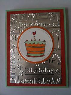Cards By Regina: Aluminum Foil Background