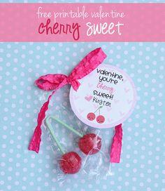 Free cherry sweet valentine's printable