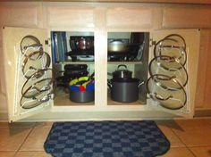 Organized Pots, Pans,  Lids