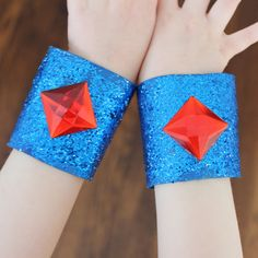 DIY Paper Roll Craft: Super Hero Bracelets