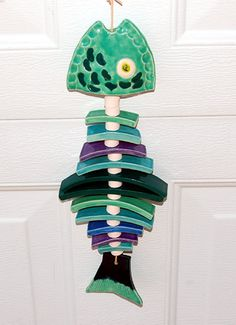 Fish wind chime by Lisa Sowers Finley