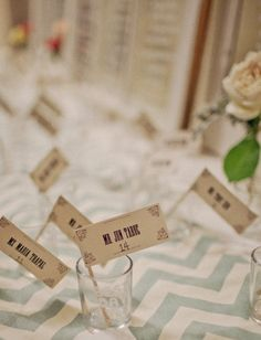 """This couple gave """"Best Day Ever"""" shot glasses as favors. Now that would make for a fun wedding!  Photography by http://freshinlove.com"""