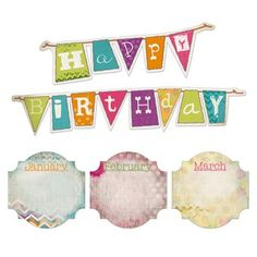This retro chic birthday bulletin board set will add a fun touch to your classroom wall! alyssa birthday