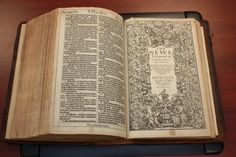 A 400-year-old first edition of The King James Bible joins the collection of the Stevenson University Archives.  http://www.baltimoresun.com/news/maryland/bs-md-stevenson-bible-20120402,0,5670642.story