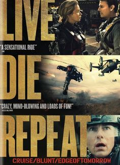 In a near future, an alien race has hit the Earth in an unbeatable assault. Major William Cage has never seen a day of combat, but is dropped into a suicide mission and killed within minutes. Cage now finds himself thrown into a time loop--forcing him to live out the same day over and over, fighting and dying each time.  Action/Sci-Fi, Rated PG-13, 113 min.  http://ccsp.ent.sirsi.net/client/hppl/search/results?qu=liman+edge+tomorrow&te=&lm=HPLIBRARY&dt=list
