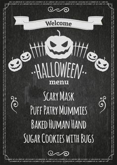 Spooky 4 Course Menu