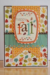 Happy Fall card using Bella Blvd.