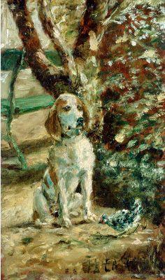 "Henri de Toulouse-Lautrec -The Artist's Dog ""Flèche"",  oil on wood. 1881. National Gallery of Art"