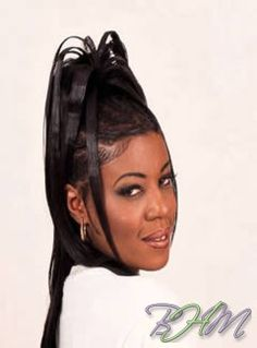 bantu knots hairstyle : halle-berry-updo-hairstyle Natural hairstyles Pinterest