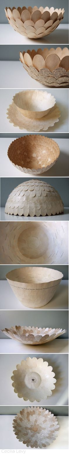 Cecilia Levy Papier maché bowls