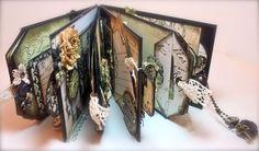 Tag mini album using Prima papers.  #papercrafts
