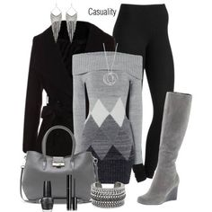 daily outfit, boot, cozy winter, pattern, sweater dresses, winter outfits, work outfits, casual outfits, back to work