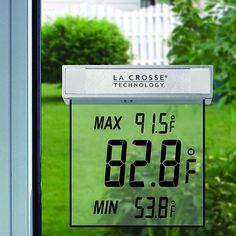 Window Thermometer – $14 #home #attach #battery #temperature #weather #resistant