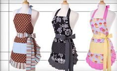Aprons and Kitchen Gloves from Flirty Aprons