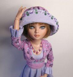 OOAK custom Ellowyne Wilde set. Dress, bolero, cummerbund, hat and jewellery.  Raccoon Rags does gorgeous work!