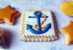 cooki idea, anchors, anchor cooki, nautical cookies, cooki decor, birthdays, birthday idea, 70th birthday, beach cooki