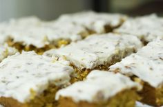 Pioneer Woman - Sigrid's Carrot Cake (eliminate walnuts from cream cheese frosting; add blueberries?)