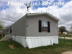 http://bit.ly/V1RIc0 $56,900 A beautiful land and single wide home package. A 2011 Clayton Yes Single Wide Home 1,120 square feet (16 x 70), on a .14 acres corner lot in Nolanville, TX. Lot is a great location, only minutes from town and centrally located. 3 bedrooms and 2 bathrooms. Home is a split floor plan with a garden tub and separate shower in the master bathroom, Laundry Room, and a excellent kitchen. new carpet, new paint and new vinyl flooring.(210)-887-2760 LIC 36155