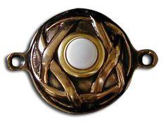 Bronze Celtic Knots Form a Bronze David Star Doorbell