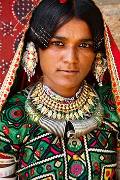 India~ Photo of a Harijan woman, Anjar Region, Kutch, Gujarat. © Kimberley Coole