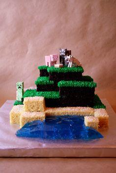 Minecraft Cake! by sushilovzsushi