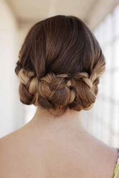 Cute braid updo hairstyle. For more hairstyles, go to -  http://sussle.org/t/Hairstyle