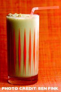 Peanut Butter-Banana-Marshmallow Milkshake.Bobby Flay