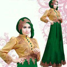 Jual Baju Gamis Pesta Satin Princess Gold Green S88 Keren - http://www.bajugamisku.com/baju-gamis-pesta-satin-princess-gold-green-s88