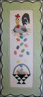Which came first: Chicken or egg? Whimsical quilt