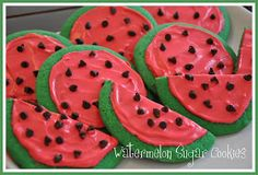 Watermelon Sugar Cookies! Perfect for summer!