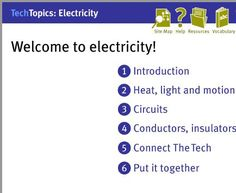 Interactive lessons on beginning to understand electricity and circuits.
