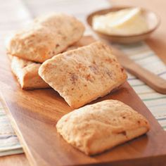 Bacon-apple cider biscuits.  Sunday breakfast, here we come