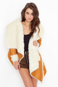 Chelsea Shearling Coat - Camel...on sale for $78....I know its almost summer BUT this is hot