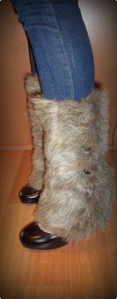DIY Fur Boot Covers