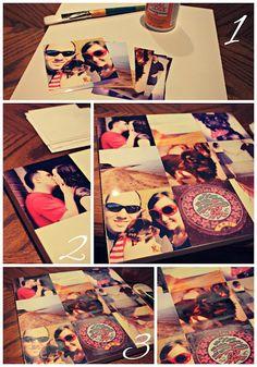 Instagram Canvas DIY - Birthday pressie for the pops!