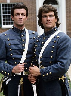 """North and South"" stars James Read and Patrick Swayze"