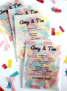Ceremony programs + confetti = a genius idea!