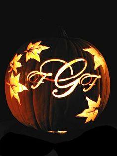 Great pumpkin carving for wedding centerpiece