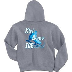 Figure Skating Sweatshirt Kick Some Ice Hoodie | Figure Skating Sweatshirt | Figure Skating Hoodie