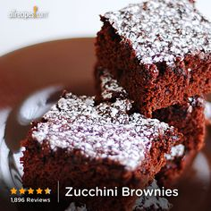 Zucchini Brownies    Going to use applesauce instead of oil