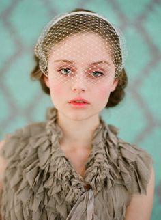 Birdcage veil headband, straight - Style #135 (birdcage veils, headbands, made to order, twigs and honey, veils, view all) | Veils | Twigs &...