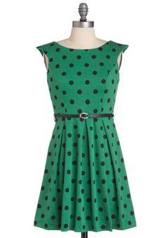 green dress - tahni