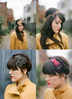 I'd like some cute creative headbands, anything with flowers and stuff :)