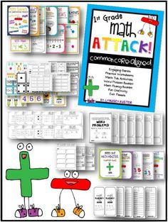 MATH ATTACK!: First Grade Common Core Math Mega-Pack {Addition and Subtraction} product from A-Year-of-Many-Firsts on TeachersNotebook.com