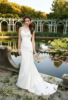 Wedding Dresses - Scattered Illusion Neckline Wedding Dress from Camille La Vie and Group USA wedding gowns