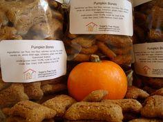 Happy October Tasty Treat: Pumpkin Dog Treats