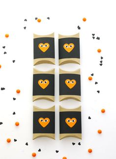 More view of this Candy Treat project heart face, face box, craft, halloween heart, fall, boxes, box diy, blog, parti